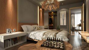 De slaapkamer inrichting voor een goede nachtrust